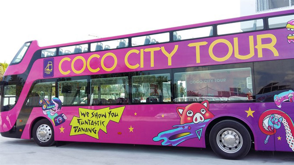 Open-top buses a hit in Da Nang