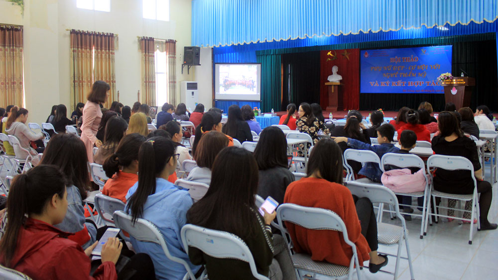 Bắc Giang,  500 bạn trẻ,  tham gia,  hội thảo, nghề thẩm mỹ