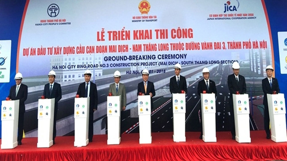 Hanoi starts construction of Mai Dich-Thang Long viaduct