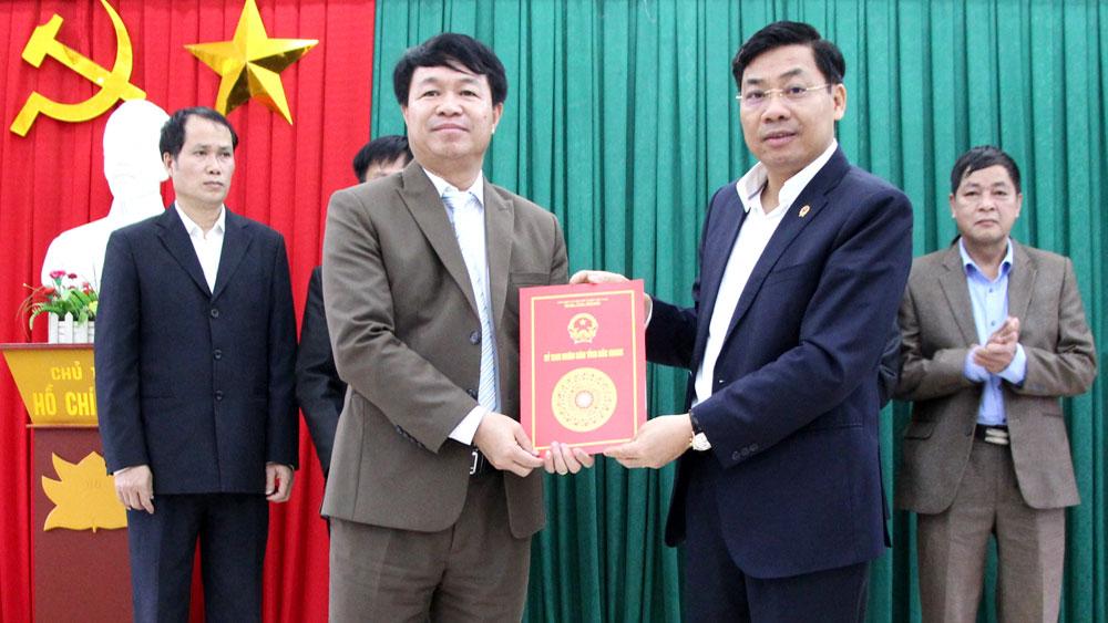 Công bố quyết định về tổ chức bộ máy, nhân sự chủ chốt Công ty thủy nông Nam Sông Thương