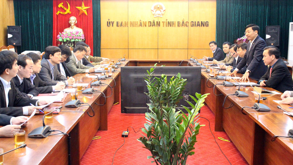 Phu Tho official delegation exchange expreriences in Bac Giang province
