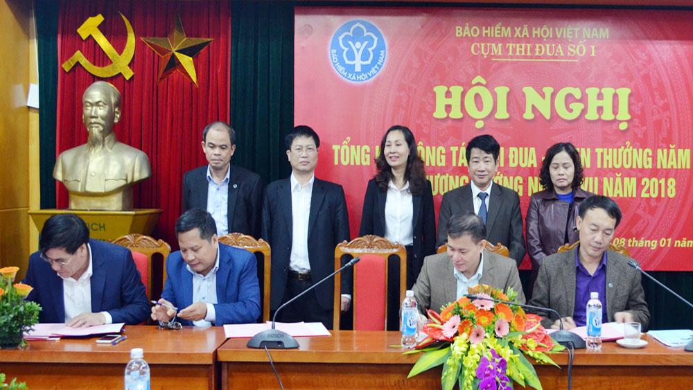 Cụm thi đua số 1, BHXH Việt Nam, ký kết,  giao ước,  thi đua năm 2018