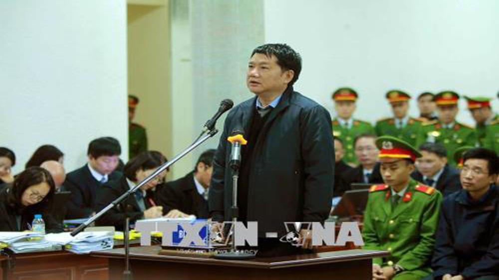 Bị cáo Đinh La Thăng xin nhận trách nhiệm với vai trò người đứng đầu
