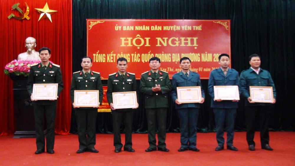 Yên Thế triển khai nhiệm vụ công tác quốc phòng địa phương năm 2018