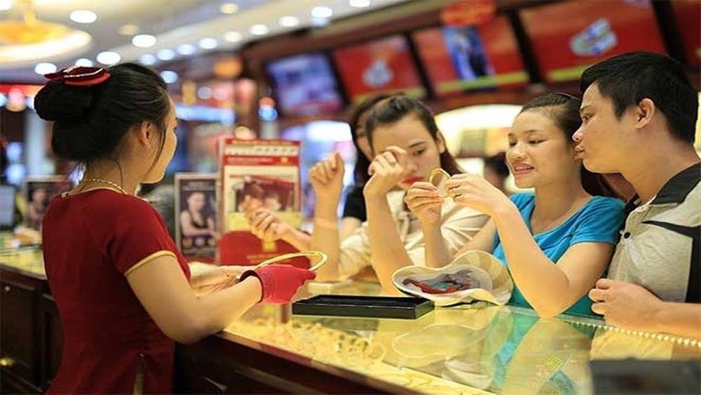 Trượt giảm, thương hiệu vàng Rồng Thăng Long mất 80 nghìn đồng mỗi lượng
