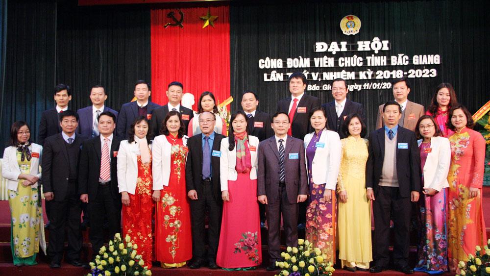 Bắc Giang, Đại hội Công đoàn Viên chức,  lần thứ V, nhiệm kỳ 2018 - 2023