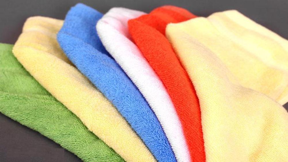 Lựa chọn khăn mặt cho bé được làm từ 100% cotton