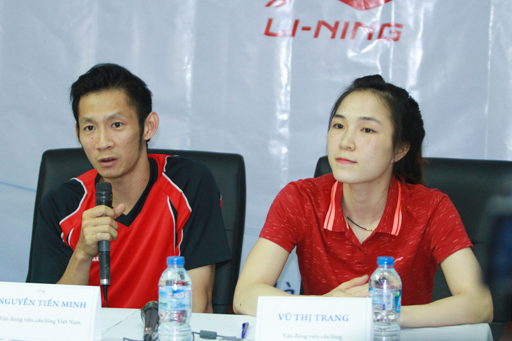 Badminton couples, Tien Minh, Vu Thi Trang, World top 60, Bac Giang-born girl, Bac Giang province, scheduled champions, SEA Games 29