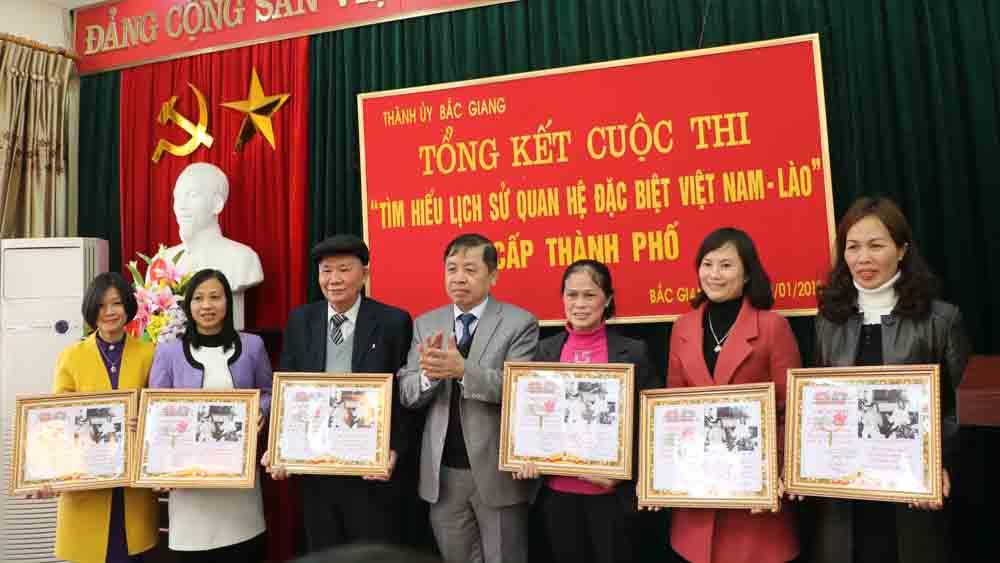 cuộc thi, tìm hiểu, Việt Nam, Lào, TP Bắc Giang