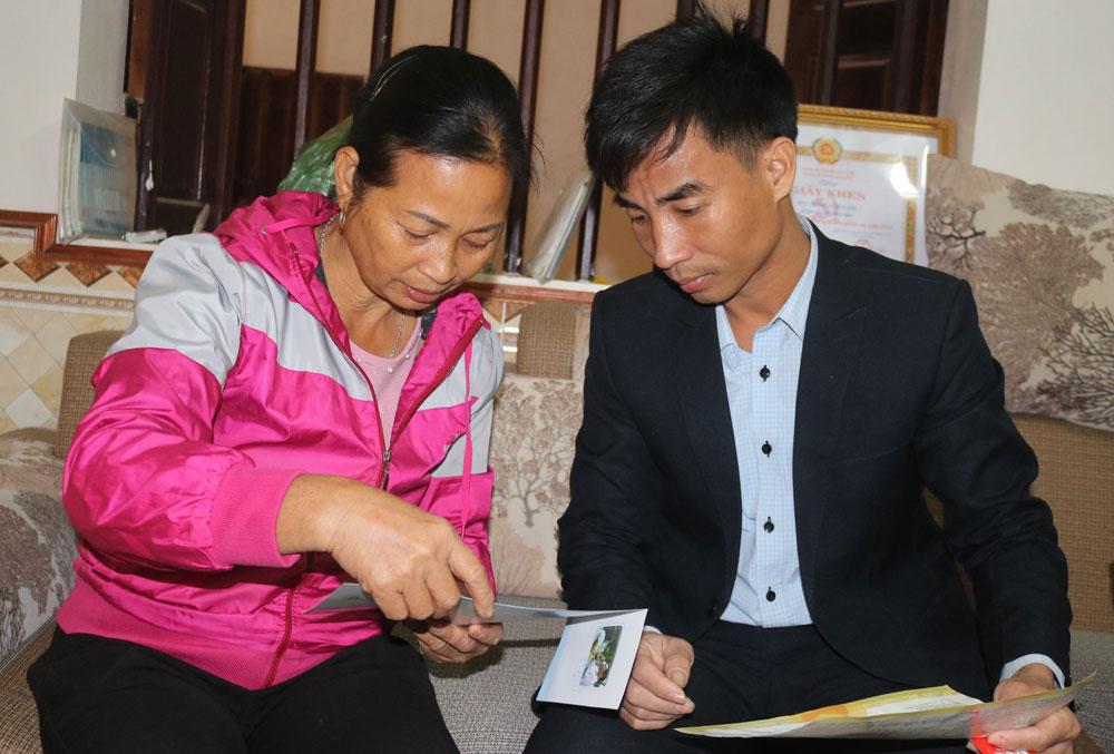 Chị Đặng Thị Luận, hơn 24 năm, cộng tác viên dân số