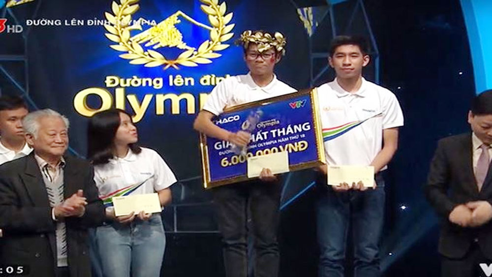 Cậu học trò Lạng Sơn giành chiến thắng 'Đường lên đỉnh Olympia' tháng 2
