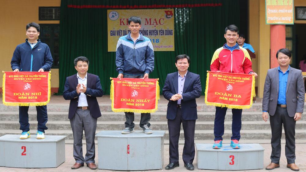 270 VĐV tham gia Giải việt dã truyền thống huyện Yên Dũng