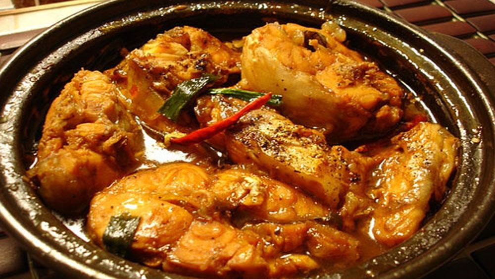 Braised and Caramelised Fish in Coconut Milk