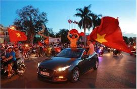 [Photo] Cả nước ăn mừng chiến thắng của U23 Việt Nam