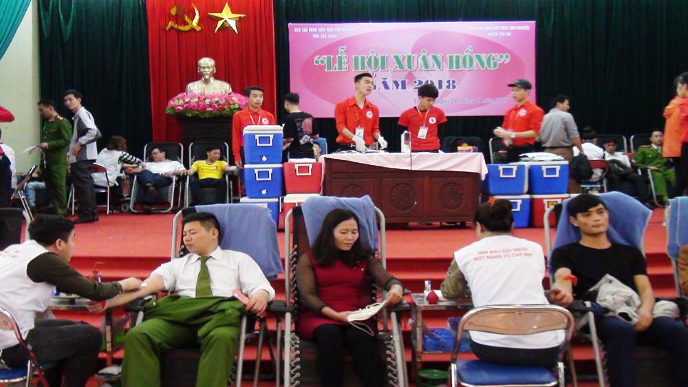 Yên Thế tiếp nhận hơn 300 đơn vị máu từ lễ hội Xuân hồng