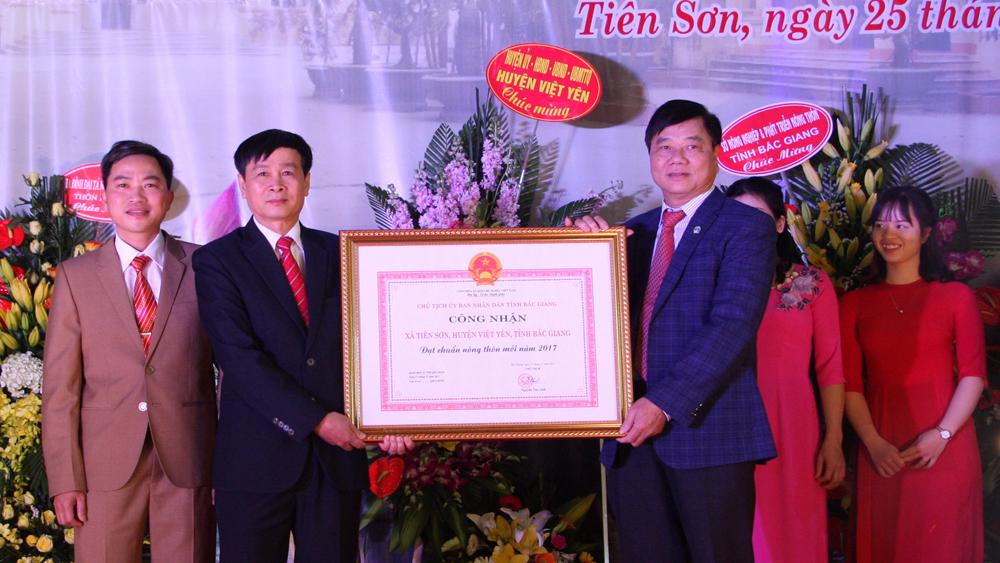 Xã Tiên Sơn đạt chuẩn nông thôn mới