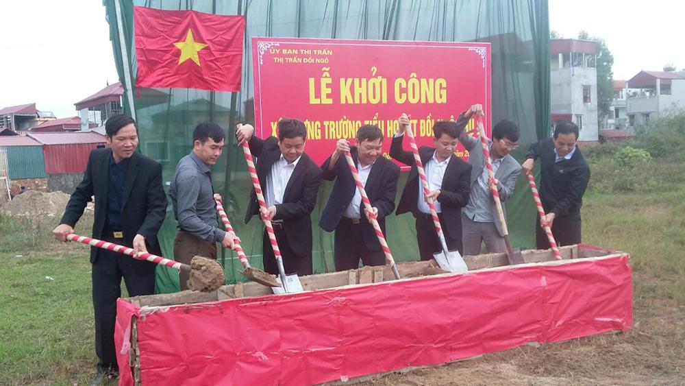 Gần 12 tỷ đồng đầu tư xây dựng trường học tại thị trấn Đồi Ngô