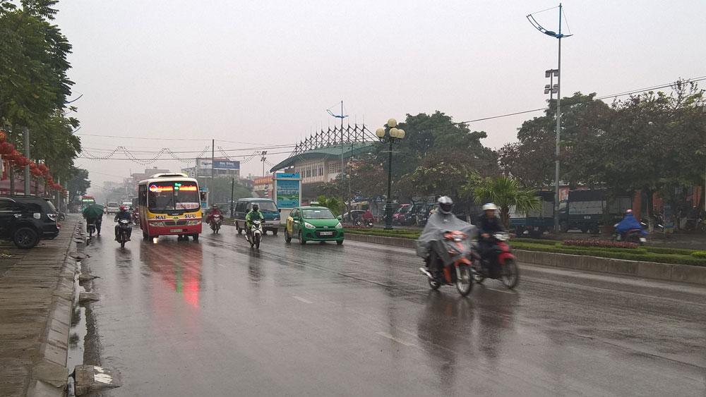 Bắc Giang, mưa nhỏ, rét, không khí lạnh