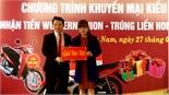 Agribank Chi nhánh Bắc Giang II: Trao giải cho khách hàng trúng thưởng khuyến mại