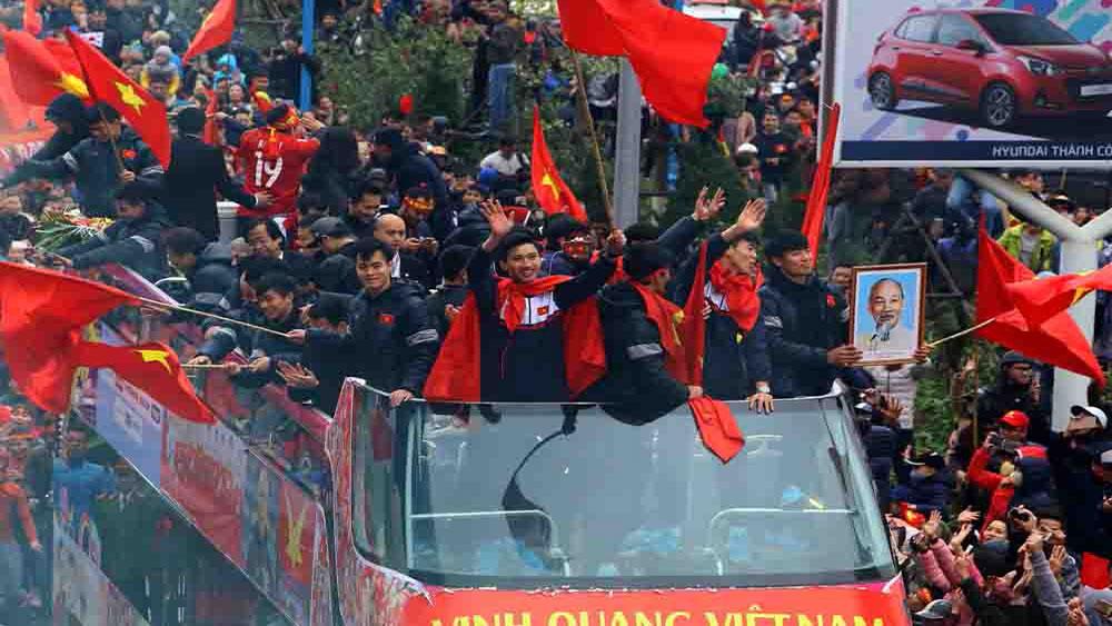 Hành trình về nước của những người hùng U23 Việt Nam
