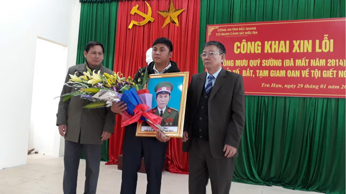 Công an Bắc Giang công khai xin lỗi ông Mưu Quý Sường