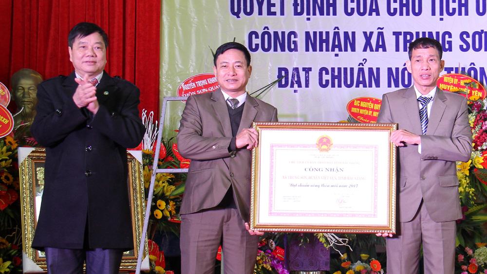 Xã Trung Sơn đạt chuẩn nông thôn mới