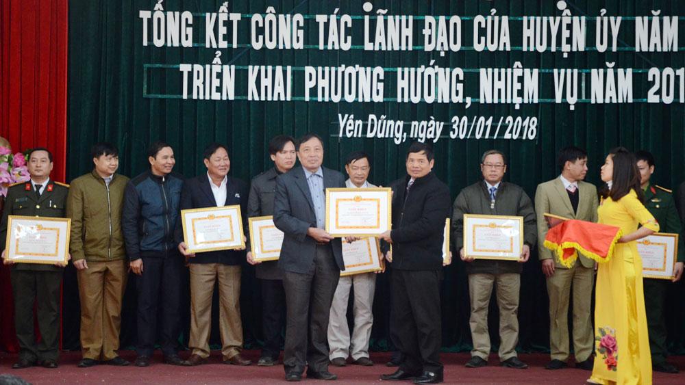 Huyện ủy Yên Dũng triển khai 4 nhóm nhiệm vụ, giải pháp năm 2018