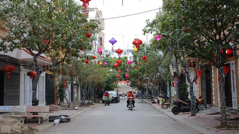 TP Bắc Giang, nhà dân, rộn ràng, trang trí, đón Xuân, Tết