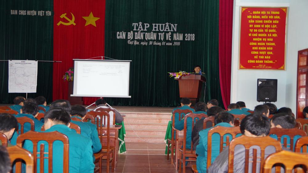 Nâng cao trình độ huấn luyện của đội ngũ dân quân tự vệ