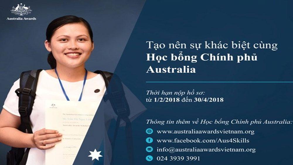 Công bố tiếp nhận hồ sơ học bổng Chính phủ Australia năm 2018