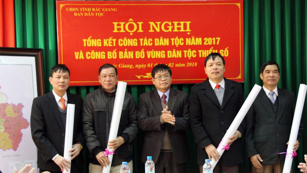 Công bố, phát hành bản đồ vùng dân tộc thiểu số tỉnh Bắc Giang