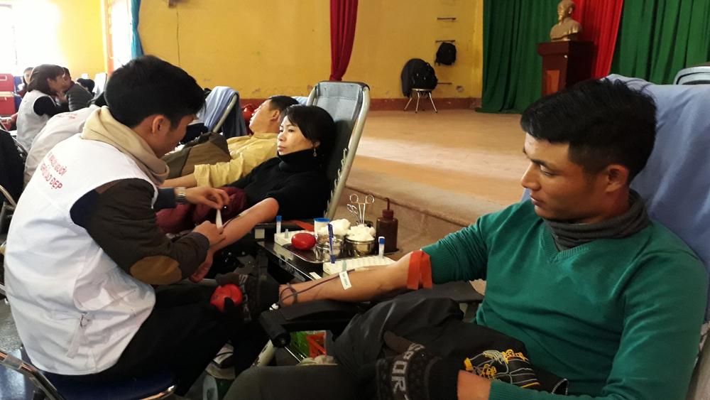 Yên Dũng, hiến máu, tình nguyện