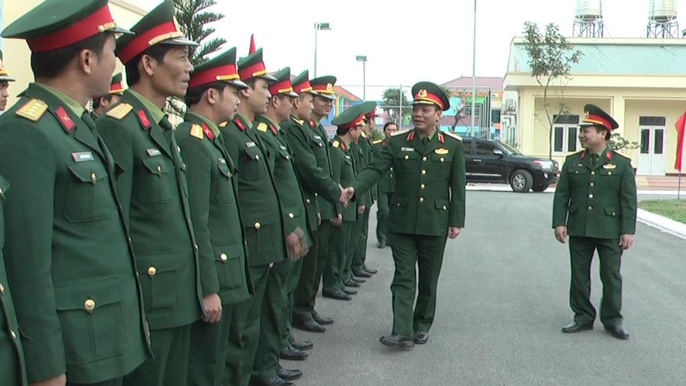 Thiếu tướng Ngô Minh Tiến, Tư lệnh Quân khu I chúc Tết tại huyện Yên Dũng