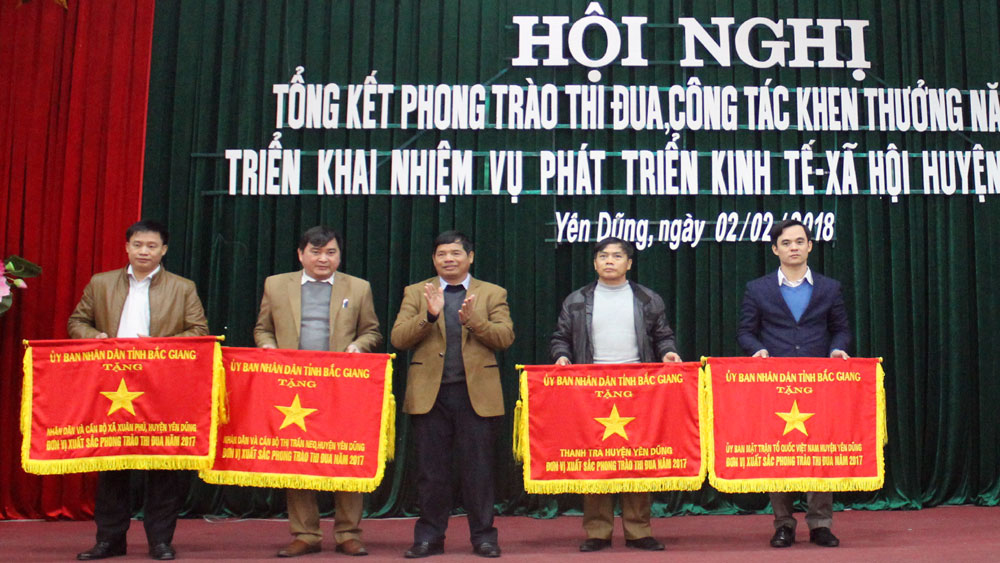 UBND huyện Yên Dũng đề ra 9 nhóm nhiệm vụ, giải pháp phát triển KT-XH năm 2018