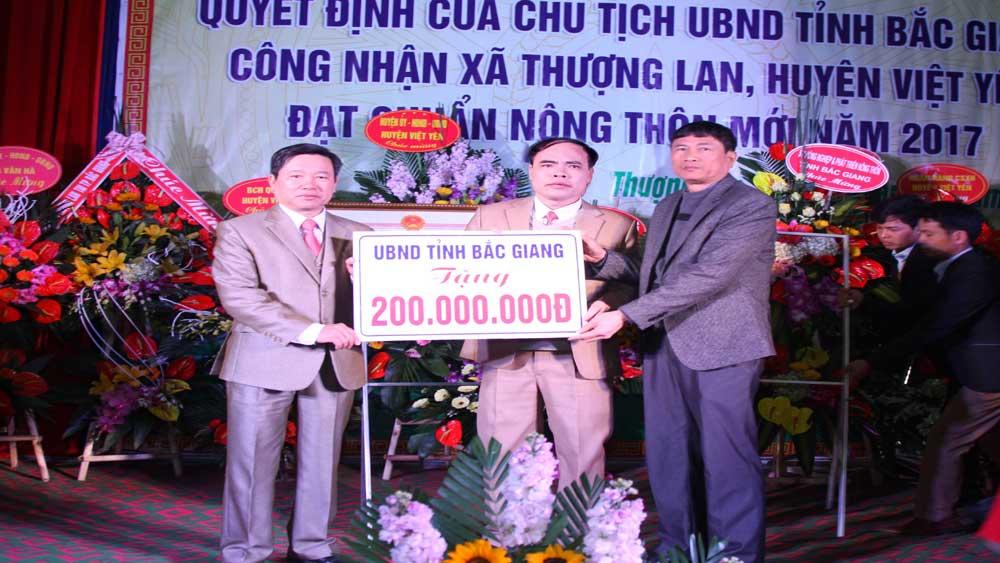 Xã Thượng Lan được công nhận đạt chuẩn nông thôn mới