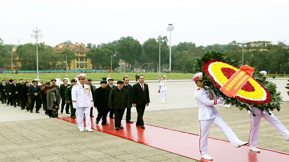 Lãnh đạo, Đảng, Nhà nước, viếng Lăng, Chủ tịch Hồ Chí Minh