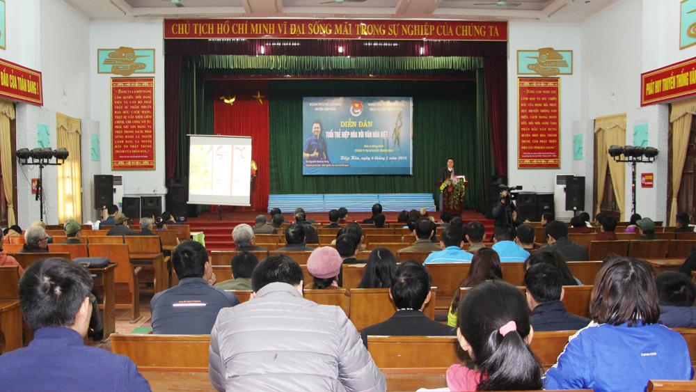 """Sôi nổi Diễn đàn """"Tuổi trẻ Hiệp Hòa với văn hóa Việt"""""""