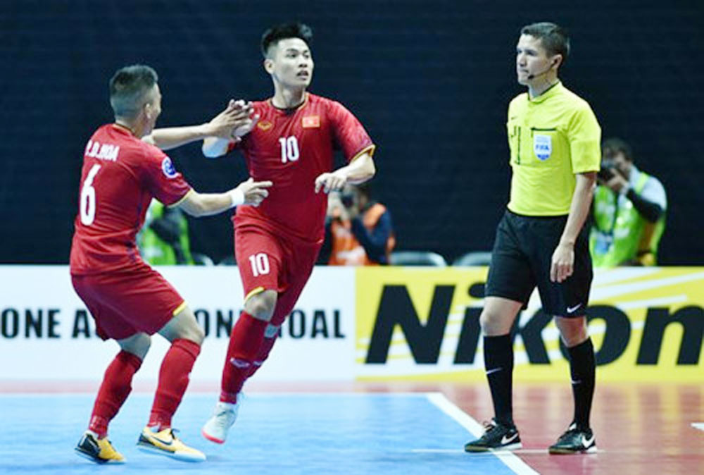 Vietnam team, quarters round, futsal event, Chinese Taipei, Asian Football Confederation, Futsal Championship, remarkable success, little domination