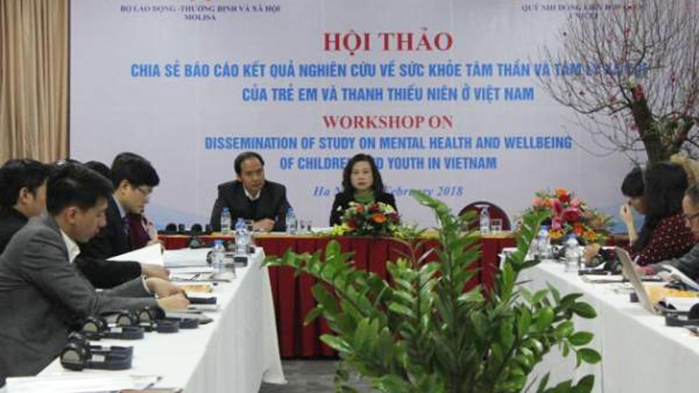 Báo động, 29% trẻ em và thanh niên Việt Nam có vấn đề tâm thần