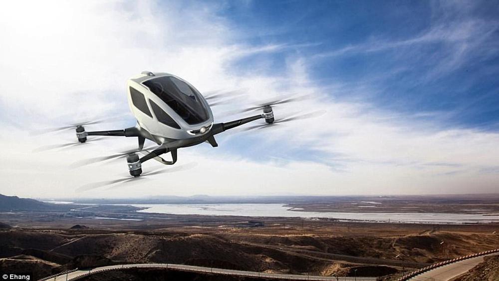 Máy bay, không người lái, chở khách, đầu tiên, thế giới, chuyến bay, ra mắt
