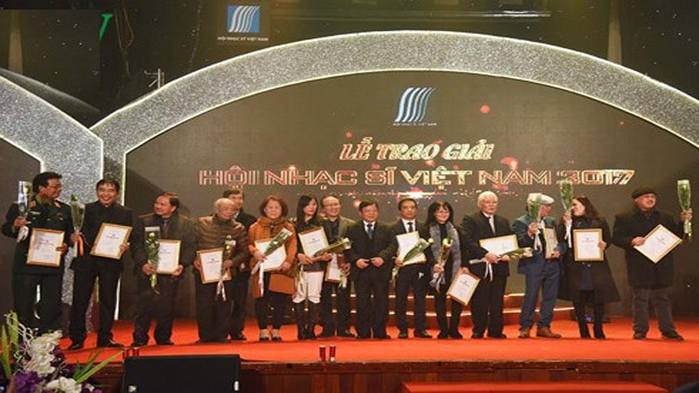 71 tác phẩm, giải thưởng, âm nhạc, Hội Nhạc sĩ Việt Nam năm 2017
