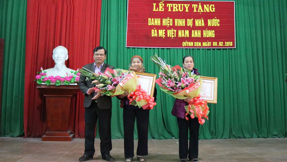 """Yên Dũng có thêm 2 Mẹ được truy tặng danh hiệu vinh dự Nhà nước """"Bà mẹ Việt Nam Anh hùng"""""""