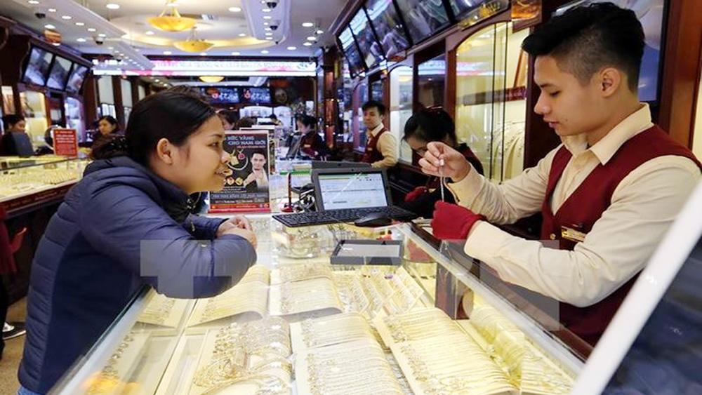 Đảo chiều, giá vàng tăng hơn 50 nghìn đồng mỗi lượng phiên cuối tuần