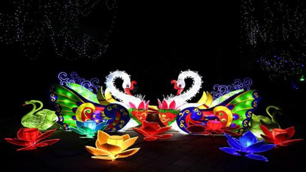 Lễ hội, hòa âm, ánh sáng, mừng năm mới