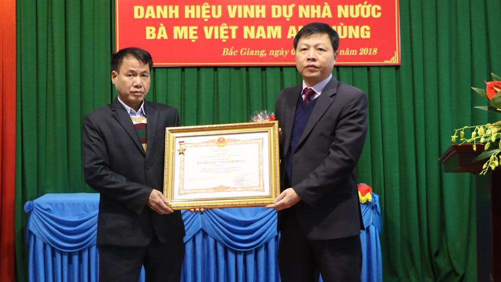 TP Bắc Giang, Truy tặng, danh hiệu, Bà Mẹ Việt Nam Anh hùng