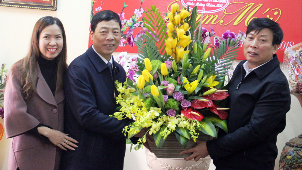 Bac Giang leader visits and extends Tet greetings to businesses