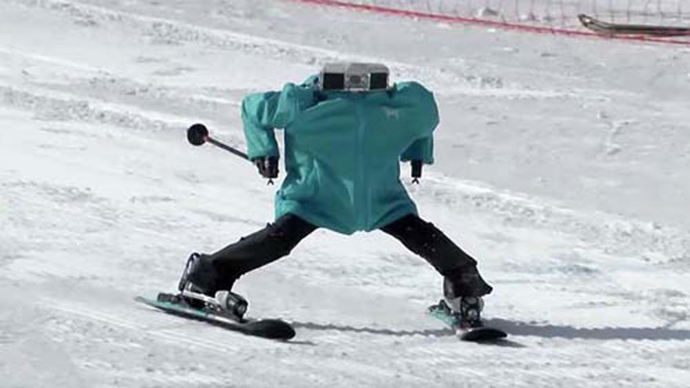 Olympic, PyeongChang, 2018, độc đáo, cuộc thi, robot, trượt tuyết, đầu tiên, thế giới