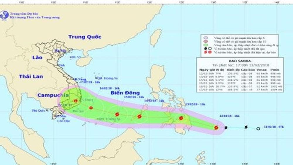 Bão Sanba vào Biển Đông, cơ quan phòng chống thiên tai ra công điện khẩn ứng phó