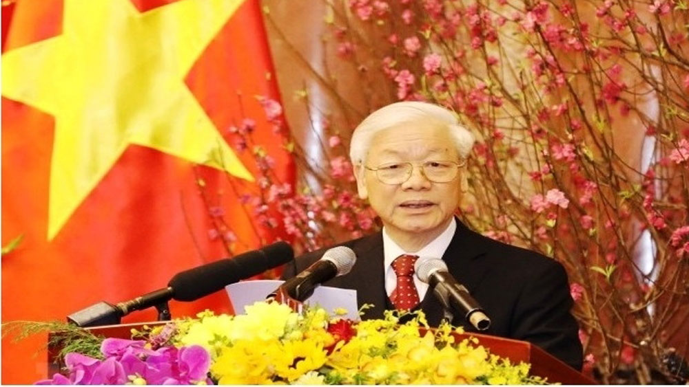 Party General Secretary conveys Tet greetings to entire nation