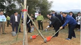 Chủ tịch nước phát động và tham gia 'Tết trồng cây đời đời nhớ ơn Bác Hồ' Xuân Mậu Tuất